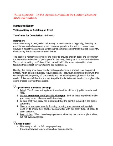 How To Begin A Narrative Essay by College Essays College Application Essays Exle Of Narrative Essay