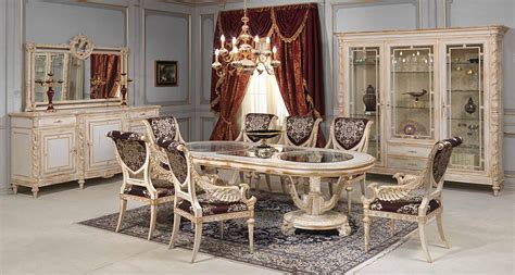 Gold Dining Room Chairs by White And Gold Dining Room In Louis Xvi Style Vimercati