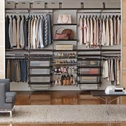 walnut platinum elfa d 233 cor his hers closet wall the