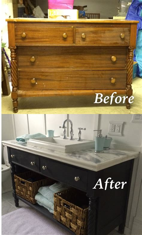 bathroom vanities from old dressers re do of an old dresser into a bathroom vanity painted