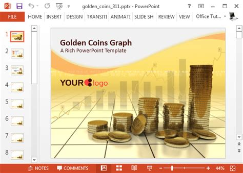Animated Gold Coins Powerpoint Templates Powerpoint Challenge Coin Template