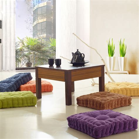 floor pillow sofa soft chunky square fiber seat cushion thickened home sofa