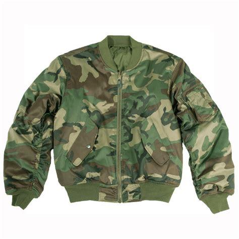 Camo Bomber Jacket Army Green Xl ma1 army style flight bomber pilot mens jacket us