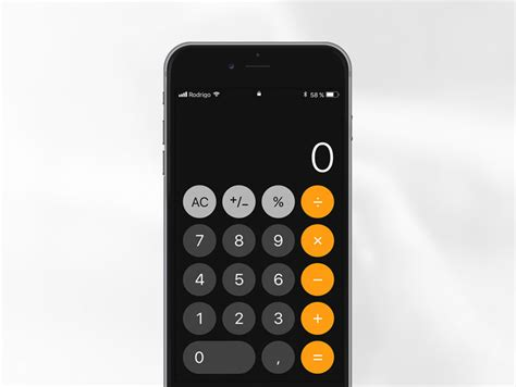 calculator iphone mobile wireframe prototyping templates gui kits free
