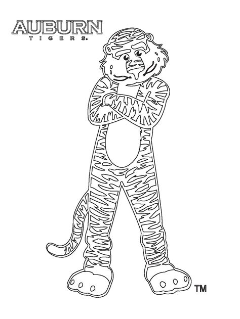 auburn coloring pages az coloring pages