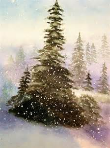 water color tree watercolor trees snow winter watercolour