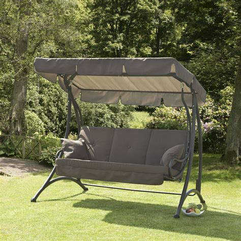 3 seater swing chair garden furniture swing seat canopy garden ftempo