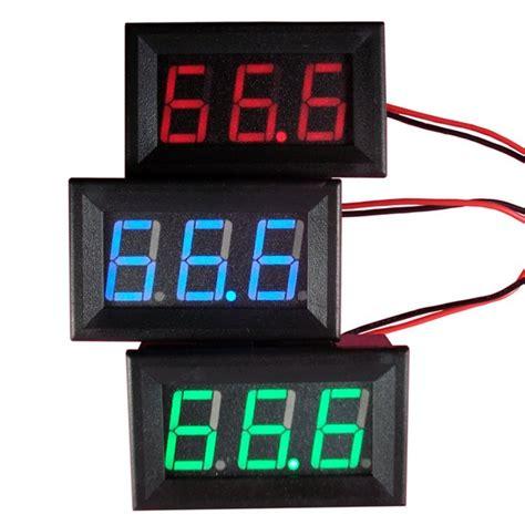 Volt Meter Digital Orange Led Dc 0 32v dc 0 30v voltmeter led 3 digital display voltmeter panel