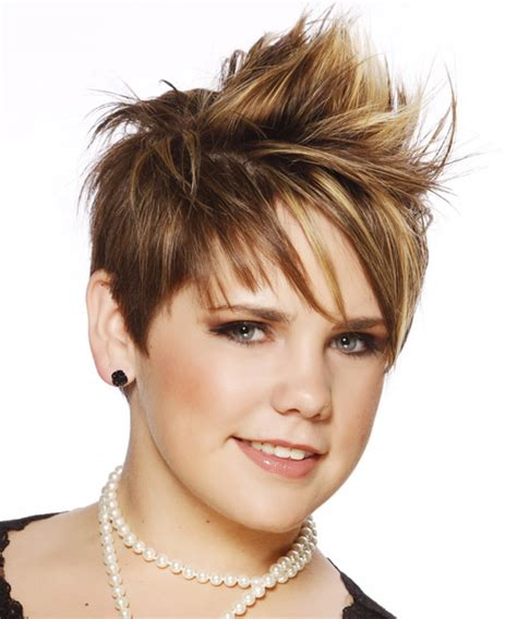 alternative short straight mohawk hairstyle  side