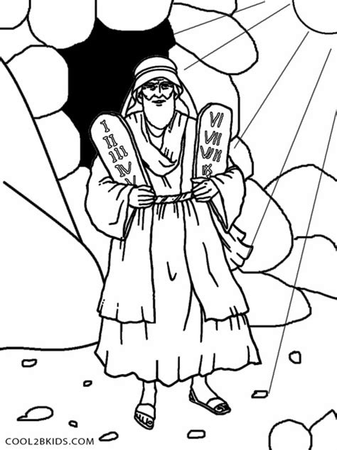 moses and ten commandments coloring pages www pixshark