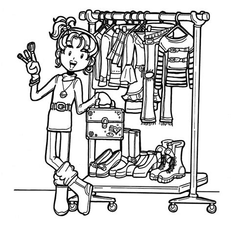 nikki from dork diaries coloring pages coloring pages