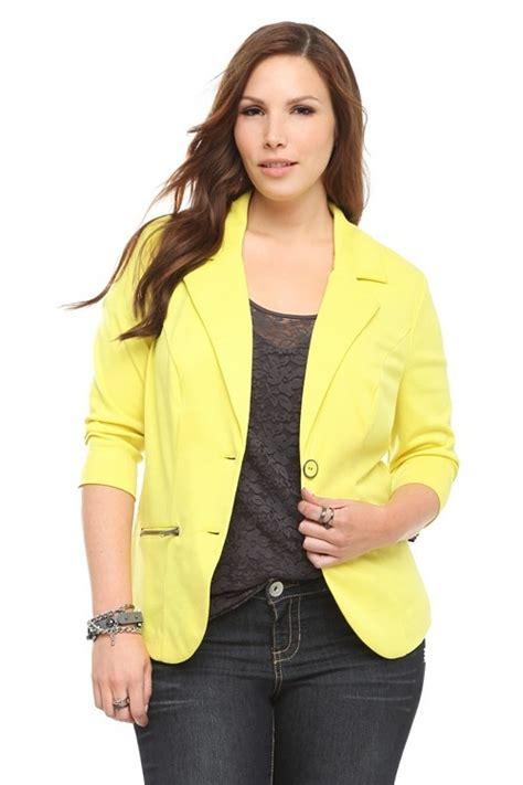 Blazer St Plus neon yellow blazer plus size st joseph county library