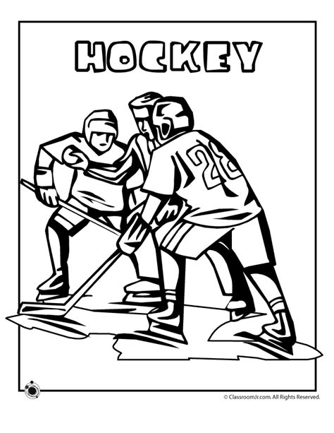 preschool hockey coloring pages olympic hockey coloring page woo jr kids activities