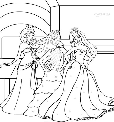 coloring pages of princess barbie printable barbie princess coloring pages for kids cool2bkids