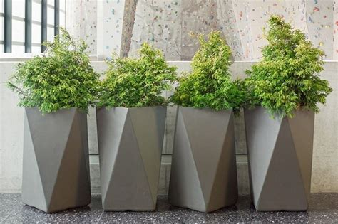 inner gardens fiber cement arrow planter outdoor pots