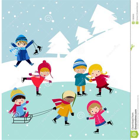 Im For Children by Kinder Verbinden Schnee Vektor Abbildung Illustration