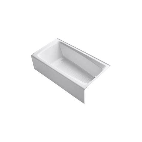 kohler mendota bathtub kohler mendota 5 ft right hand drain cast iron with