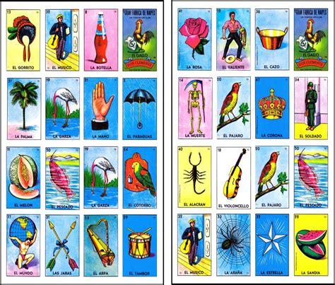 tablas de loteria mexicana para imprimir loteria mexicana imprimible 100 cartas 180 00 en