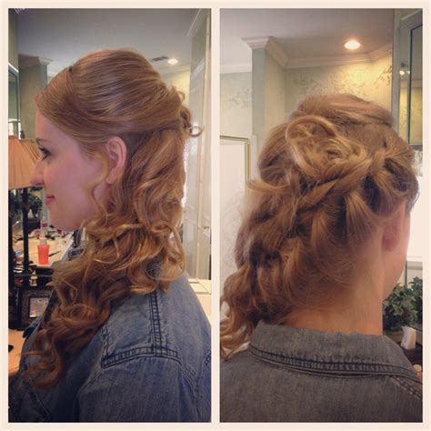 formal side french braid updo side swept french braid prom wedding hairstyle hair love