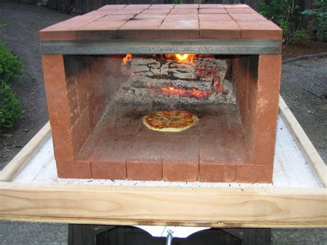 build wood fired pizza oven your backyard build a dry stack wood fired pizza oven comfortably in one
