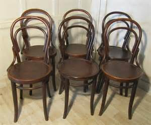Bentwood Bistro Chair Set Of 6 Thonet Bistro Bentwood Chairs 246404 Sellingantiques Co Uk