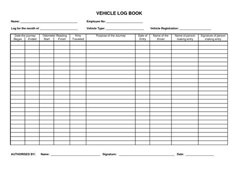 free log book template best photos of vehicle maintenance log book template