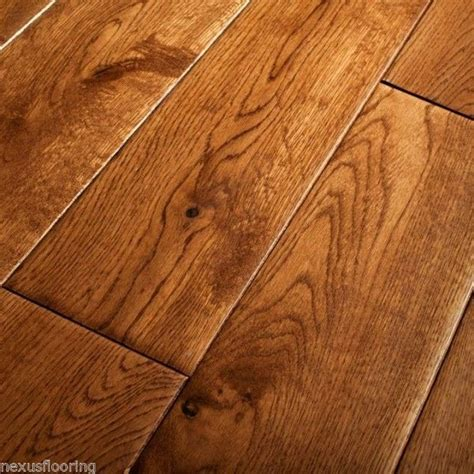 details about 18mm x 125mm hand scraped tobacco oak solid flooring real wood wooden floor
