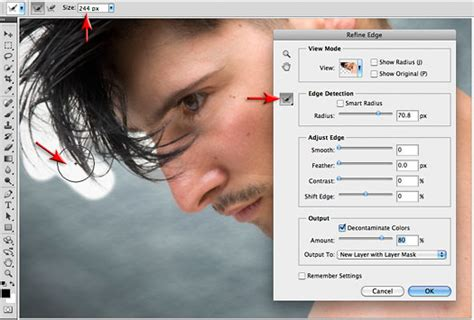 photoshop cs5 tutorial remove background hair refine edge photoshop cs5 tutorial from mark galer used
