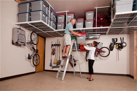 Garage Ceiling Storage Systems ceiling mounted garage storage