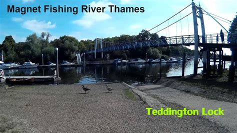 thames river youtube magnet fishing river thames teddington lock youtube