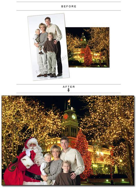 santa claus  photo editing add xmas background