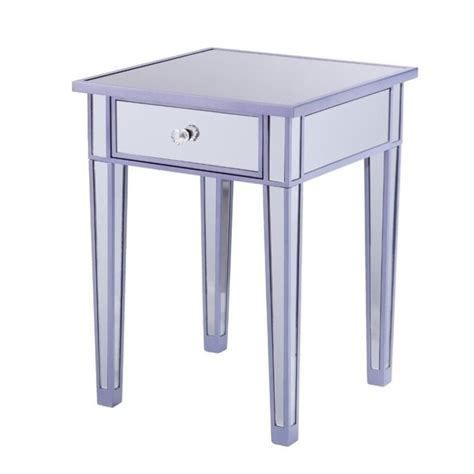 purple accent table southern enterprises mirage colored mirror accent table in purple oc9469
