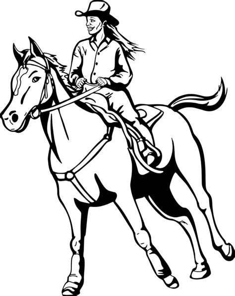 coloring pages of cowgirls and horses rodeo vaquero coloring pages