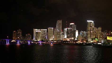 miami city skyline at night miami night skyline footage stock clips