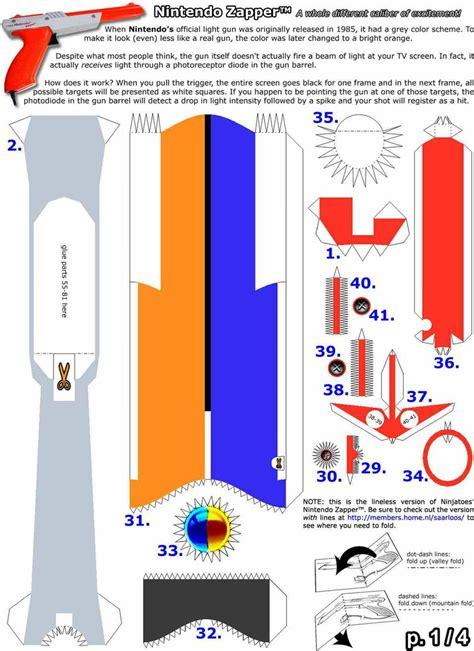 Portal Gun Papercraft - pdf nes zapper papercraft mod portal gun by rinkusonic41