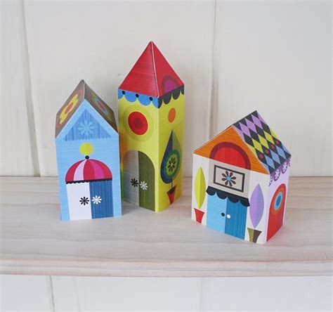 Paper House Craft - 3 houses paper craft kit