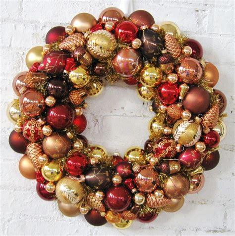 christmas ornaments bronze pinecones ornament wreath bronze copper gold ornament wreath copper and ornaments