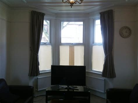 flexible curtain rails for bay windows bay window track and curtain fitted in hanwell 171 curtain