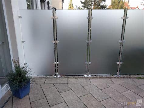 Zaun Aus Glas by Glaszaun Transvent Als Sichtschutz Im Garten Glasprofi24