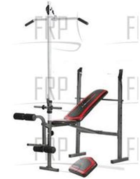 weider weight bench parts weider pro 290 w 831 306640 fitness and exercise