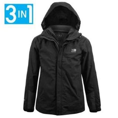 karrimor 3in1 waterproof jacket mens black xxxx large co uk clothing