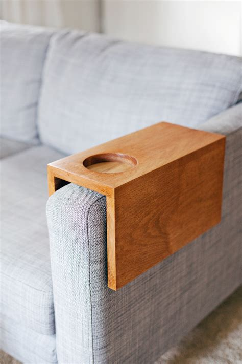 couch arm cup holder wooden sofa sleeve with cup holder a beautiful mess