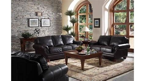 Living Room With Black Sofa 20 Ideas Of Black Sofas For Living Room Sofa Ideas