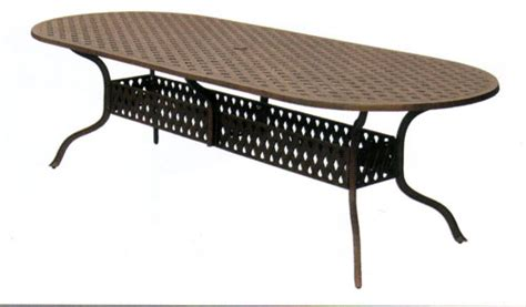 Slippery Rock Lawn And Garden Oval Cast Aluminum Patio Table Woodard New Orleans Oval Dining Table Cast Aluminum Tables