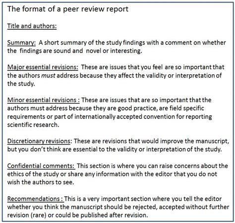 how to write a peer review paper a beginner s guide to peer review part two research in