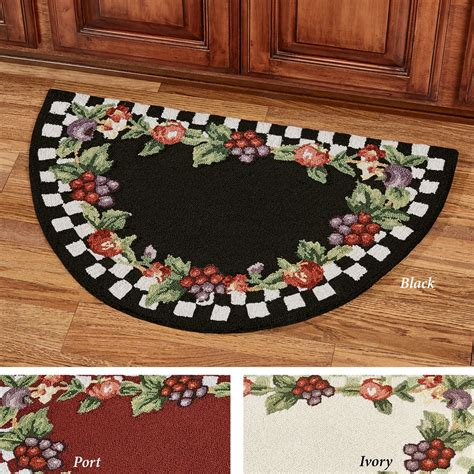 sonoma hooked fruit area rugs