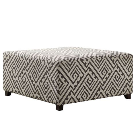 white cocktail ottoman nspire valentina cocktail ottoman grey and white 402