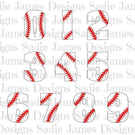 printable baseball numbers pin by toni strickland on baseball pinterest a well