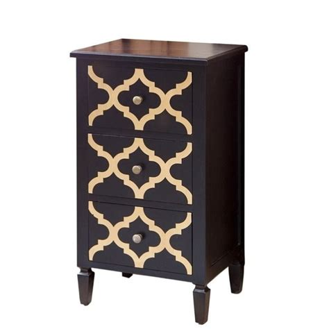 black and gold end table abbyson living autumn 3 drawer end table in black and gold