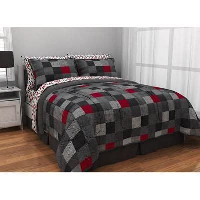 gray and red bedding full boys teen red black gray reversible geo squares